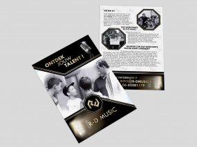 R-D Music – Flyer ontwerp