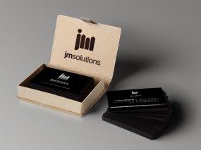 JM Solutions – Logo en visitekaartje