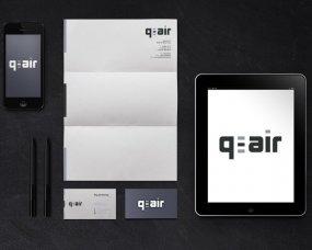 Q-Air – Logo en complete huisstijl