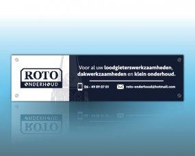 ROTO Onderhoud – Reclamebord